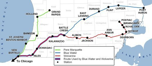 MDOT RailStats - Us passenger train map